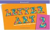 Letter Art 2: Cool & Colorful Letter Designs to Draw