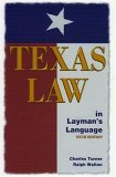 Texas Law in Laymans' Language