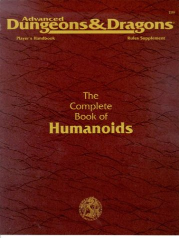 Player's Handbook Rules Supplement: The Complete Book of Humanoids (Advanced Dungeons & Dragons 2nd Edition, Stock #2135)