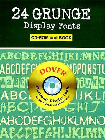24 Grunge Display Fonts CD-ROM and Book