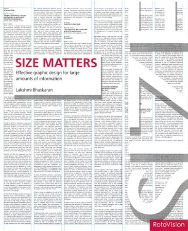 Size Matters: Effective Graphic Design for Large Amounts of Information