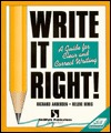 Write It Right!: A Guide for Clear and Correct Writing