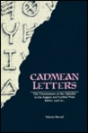 Cadmean Letters: The Transmission of the Alphabet to the Aegean and Further West Before 1400 B.C.