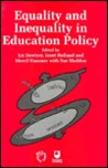 Equality and Inequality in Education Policy