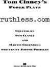 Ruthless.com (Tom Clancy's Power Plays, #2)