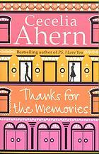 Thanks for the Memories by Cecelia Ahern