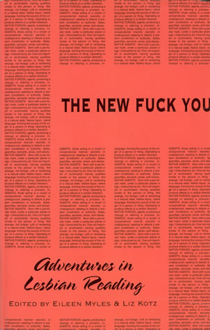 The New Fuck You by Eileen Myles