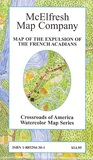 Map of the Expulsion of the French Acadians (Crossroads of America Watercolor Map Series)