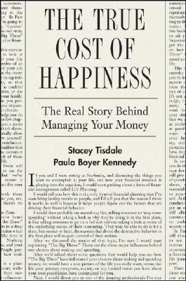 The True Cost of Happiness by Stacey Tisdale