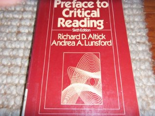 Preface to Critical Reading