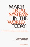 Major Legal Systems in the World Today: An Introduction to the Comparative Study of Law