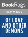 Of Love and Other Demons by Gabriel Garcia Marquez Summary  Study Guide
