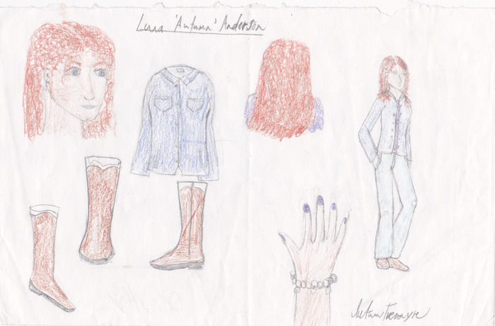 Sorry if it's subpar- believable red hair is an adventure to draw, I tell ya. This is a conceptual sketch of Luna Anderson, owned by Hope.
