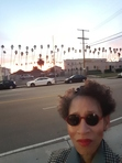 This is me, waiting at the bus stop, in L.A..