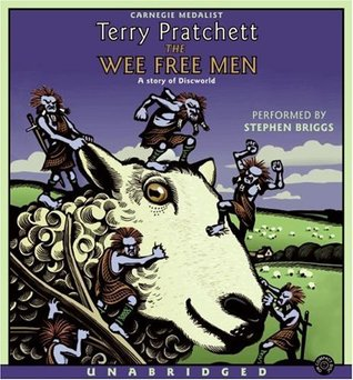 The Wee Free Men by Terry Pratchett audiobook cover
