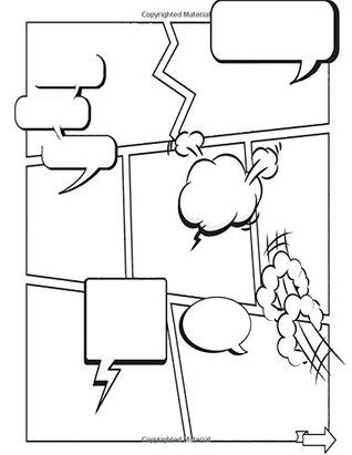 Comic Book Creator Blank Squares: Color Interior Quote Bubbles ...